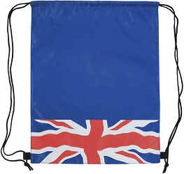 Cliffe Union Jack Drawstring Bag